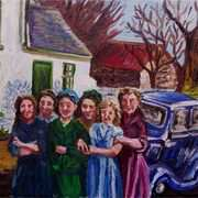 Halcyon Days, (my Mother and her Friends), Low Road, Townland of Kilcoanbeg, Islandmagee