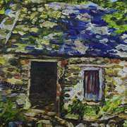 In the Shadows, Ruined Cottage on the Vianstown Road, Townland of Ballyvange, County Down.