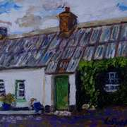 Listed Cottage at Gransha, Islandmagee, (painted with consent from a photo by the Ulster Architectural Heritage Society)