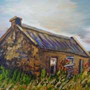 Lonely Mourne Cottage, Slieve Binnian, County Down