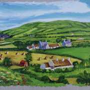 Muldersleigh Hill, Islandmagee, County Antrim, painted from a photograph by WA Green, courtesy the Trustees of National Museums Northern Ireland