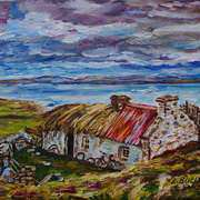 Old Cottage at Crohy Head, near Dungloe, Donegal. Painted with kind permission from a photograph by Gary McParland, (Professional Photographer).