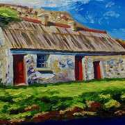 Old Farm on the Glen Road, Glenariff, County Antrim