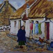 Returning Home, The Claddagh, Galway, Reference photo used with consent, Courtesy of the Irish Capuchin Archives