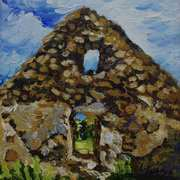 Ruined Cottage Gable, (Interior), Ballymoney, Islandmagee