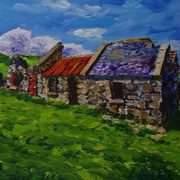 Ruined Cottages at Crockincarragh Clachan Fairhead Ballycastle County Antrim