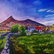 Ruined Farm in the Shadow of Slieve Binnian, with kind permission form a photograph by Leslie Hanthorne