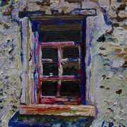Shattered Panes, Deserted Cottage Window, Gransha