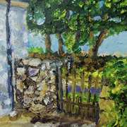 The Gate to the Lane at Callaghan's Cottage, Kilkeel, county Down