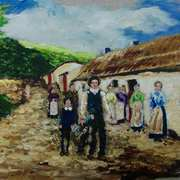 The Hill Family,Valley Farm,Portmuck,Islandmagee,County Antrim,(painted with kind permission from Robin Cowan)