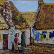 Washday, The Claddagh, Galway, Reference photo used with consent, Courtesy of the Irish Capuchin Archives