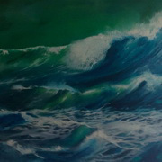 Irish Art, Deep Green,