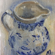 Blue and White Jug 1