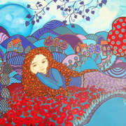 Evie One of a series of six paintings