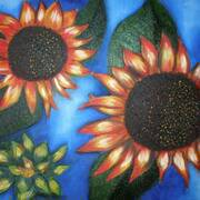 Sunflowers on a really hot summers day!