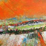 Landscape With Orange Sky