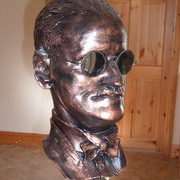 James Joyce, Hand sculpted in clay