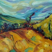Art 'Autumn Fields'