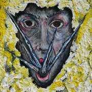 Anger and Self,Acrylics,gouache