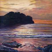 Irish Art, Sunset at Rougey Bundoran Co Donegal,