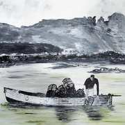 'Lobster Fishing off Irelands Eye 1960s'