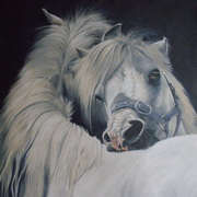 Irish Art, Preening Ponies,