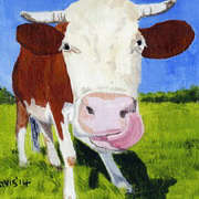 Irish Art, Cows Lick 1,