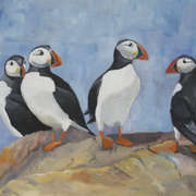 Irish Art, Puffins,