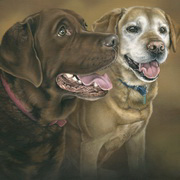 Art 'Kia and Holly's Portrait, Acrylic'