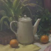 Art 'White Tea Pot'