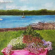 Pink Boat in Park