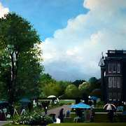 Artist at Lyme Park Cheshire Sky Arts Landscape Artist of the Year2015 Competition