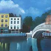 Bridge Accross The Liffey In Dublin