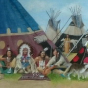 Crow indian village circa1860 1
