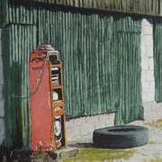 Red Petrol Pump