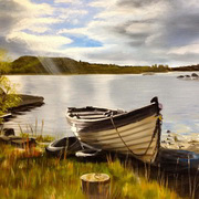 'Lone Boat on Lough Conn'