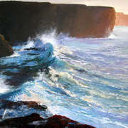 Irish Art, Breakers beneath the cliffs,