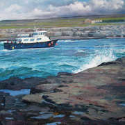 Doolin Ferry returning from Inis Oirr