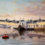Yankee Clipper mooring at Foynes